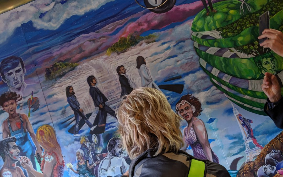 A mural to test the biggest Beatles fans knowledge